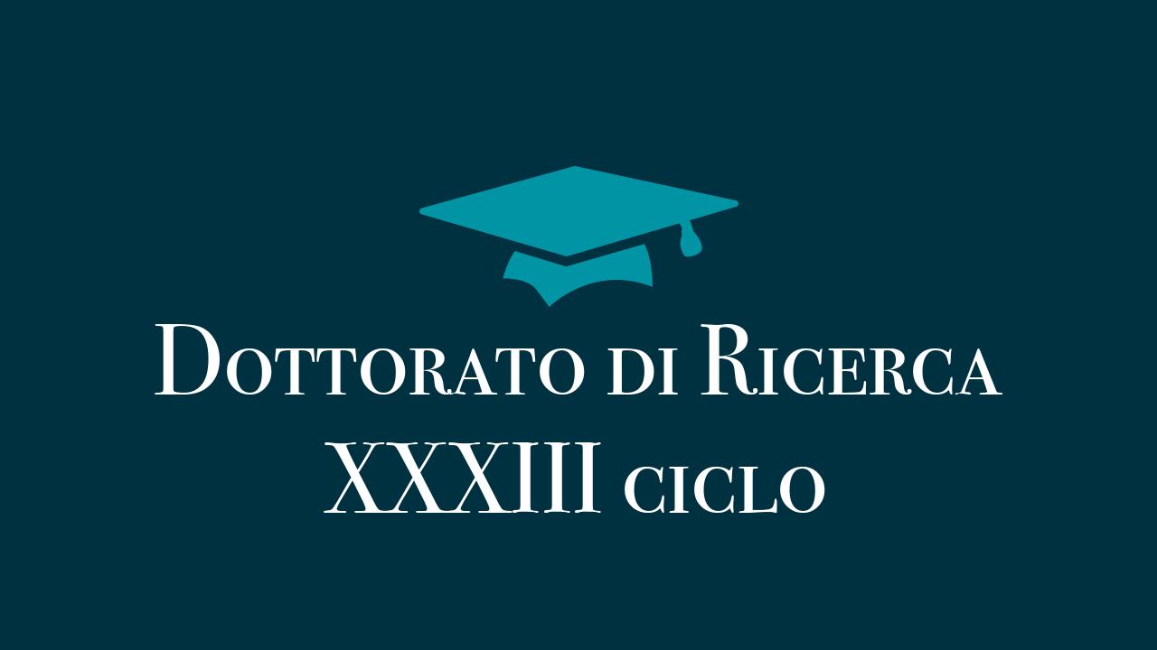 Corso di Dottorato di Ricerca - XXXIII ciclo
