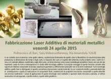 Fabbricazione Laser Additiva di materiali metallici